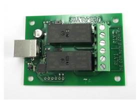 USB-RLY02 - 2 Channel Relay Module with USB Interface - top view