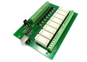 USB-OPTO-RLY816 8 Channel 16A Relay Board with isolated inputs