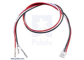 """3-pin female JST PH-style cable (30 cm) with female pins for 0.1"""" housings"""