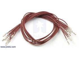 "Wire with pre-crimped terminals 10-pack 12"" F-F brown"