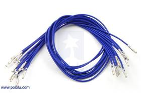 """Wire with pre-crimped terminals 10-pack 12"""" F-F blue"""