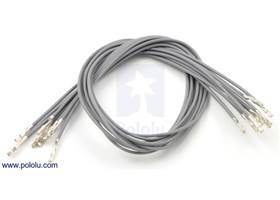 "Wire with pre-crimped terminals 10-pack 12"" F-F gray"
