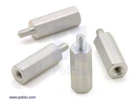 """Aluminum standoff 1/2"""" 2-56 M-F 4-pack"""
