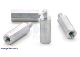 """Aluminum standoff 1/2"""" 4-40 M-F 4-pack"""