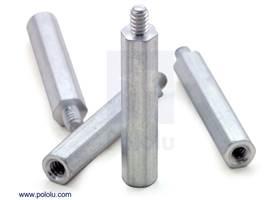 "Aluminum standoff: 1"" length, 4-40 thread, M-F (4-pack)"