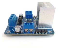 L298 Motor Driver Board - side view
