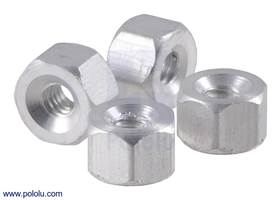 "Aluminum standoff: 1/8"" length, 2-56 thread, F-F (4-pack)"