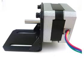 Stepper motor bracket for 42 series - reverse mount