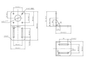 Stepper motor bracket for 42 series - dimensions
