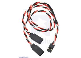 """Twisted servo Y splitter cable 12"""" female – 2x male"""