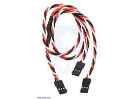 "Twisted servo Y splitter cable 12"" female – 2x female"