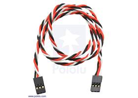 "Twisted servo extension cable 24"" female – female"