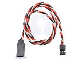"""Twisted servo extension cable 24"""" male – female"""