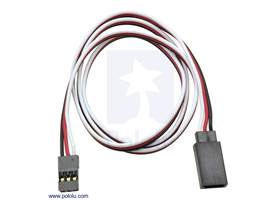 """Servo extension cable 24"""" male – female"""