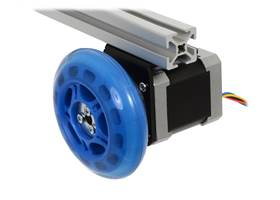 A stepper motor connected to a scooter wheel by the 5 mm scooter wheel adapter (1)