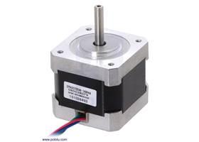 Stepper motor: bipolar, 200 steps/rev, 42x38mm, 2.8V, 1.7  A/phase (SY42STH38-1684A)