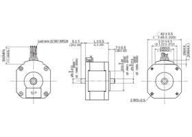 Sanyo Pancake Stepper Motor: Bipolar, 200 Steps/Rev, 42×18