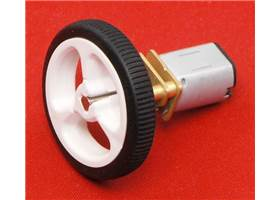 Pololu wheel 32x7mm on a micro metal gearmotor