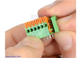 Removing the end cap from a 6-pin side-entry screwless terminal block
