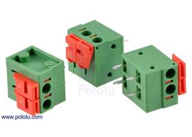 Screwless terminal blocks: 2-pin, 0.2″ pitch, side entry