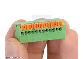 We have now combined two 6-pin side-entry screwless terminal blocks into a single 12-pin terminal block