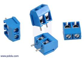 Screw terminal blocks: 2-pin, 5 mm pitch, side entry