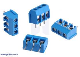Screw terminal blocks: 3-pin, 5 mm pitch, side entry