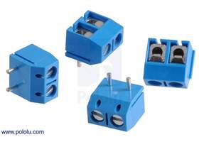 Screw terminal blocks: 2-pin, 5 mm pitch, top entry