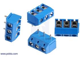 Screw terminal blocks: 3-pin, 5 mm pitch, top entry