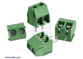 Screw terminal blocks: 2-pin, 3.5 mm pitch, side entry