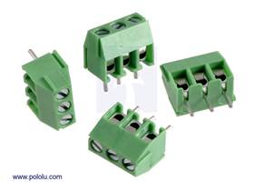 Screw terminal blocks: 3-pin, 3.5 mm pitch, side entry