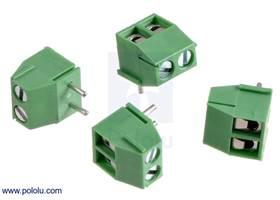 Screw terminal blocks: 2-pin, 3.5 mm pitch, top entry