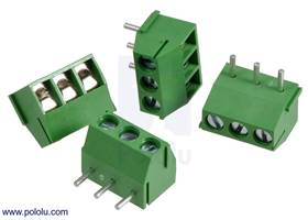 Screw terminal blocks: 3-pin, 3.5 mm pitch, top entry