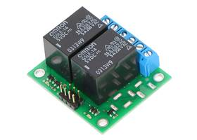 Pololu basic 2-channel SPDT relay carrier with 5 VDC relays (assembled)