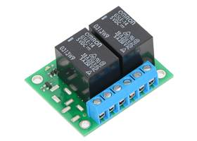 Pololu basic 2-channel SPDT relay carrier with 5 VDC relays (assembled) (1)