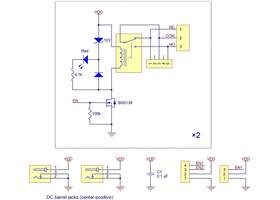 Pololu basic 2-channel SPDT relay carrier schematic diagram