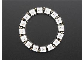 Adafruit 16-LED NeoPixel ring, top view
