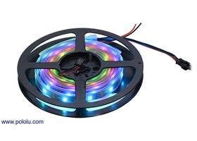 A 2-meter, 60 LED addressable RGB LED strip on the included reel