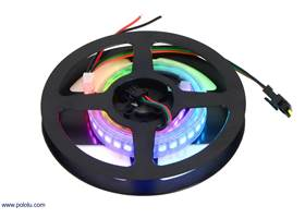 A 1/2-meter, 72 LED addressable RGB LED strip on the included reel