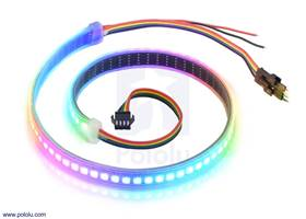 Addressable High-Density RGB 72-LED Strip, 5V, 0.5m (APA102C)