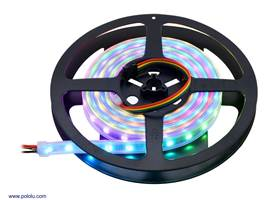 Addressable RGB 120-LED Strip, 5V, 2m (APA102C) on the included reel