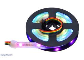 Addressable RGB 30-LED Strip, 5V, 1m (APA102C) on the included reel