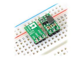 Pololu step-up voltage regulator U3V12Fx - in a breadboard