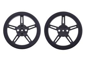 Pololu Wheel for FEETECH FS90R Micro Servo, 60x8mm Pair – Black