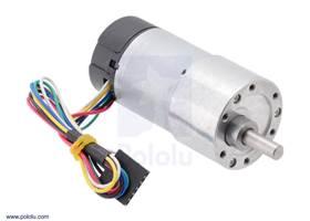 37Dmm metal gearmotor with 64CPR encoder