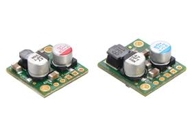 Side-by-side comparison of the 2.5A D24V25Fx (left) and 5A D24V50Fx (right) step-down voltage regulators