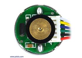 25D mm metal gearmotor with 48 CPR encoder: close-up view of encoder