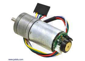 25D mm metal gearmotor with 48 CPR encoder