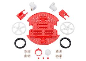 Contents of the Romi Chassis Kit – Red.