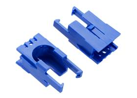Romi Chassis Motor Clip Pair – Blue.